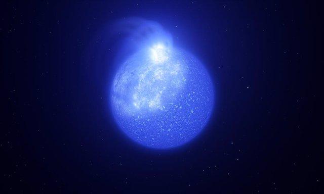 Las estrellas calientes están plagadas de puntos magnéticos gigantes