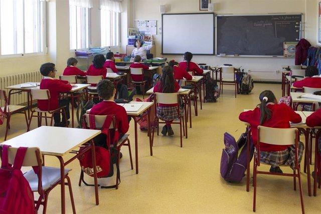 Clase en un colegio concertado de Madrid.