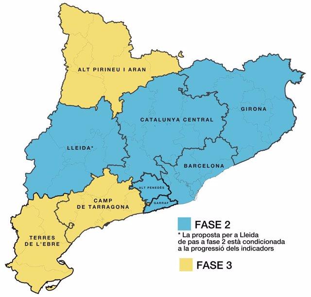 Propuesta de la Generalitat de Catalunya de desescalada por el coronavirus desde el lunes 8 de junio de 2020