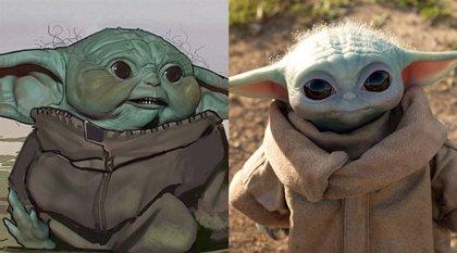 Así (de chungas) eran las primeras versiones de Baby Yoda en The Mandalorian