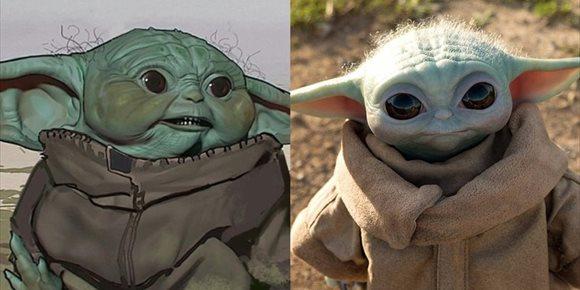 1. Así (de chungas) eran las primeras versiones de Baby Yoda en The Mandalorian