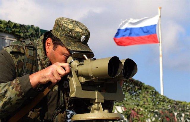Un militar rus desplegat a Crimea