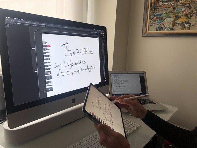 Aplicación tecnológica utilizada por un profesor de la UPSA