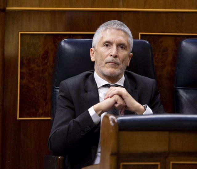 El ministre d'Interior, Fernando Grande-Marlaska, al Congrés dels Diputats, Madrid (Espanya), 27 de maig del 2020.