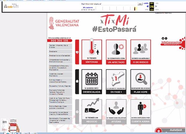 La Biblioteca Valenciana recopila la información web de la pandemia de la COVID-19