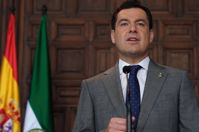 El presidente de la Junta de Andalucía, Juanma Moreno. (Imagen de archivo).