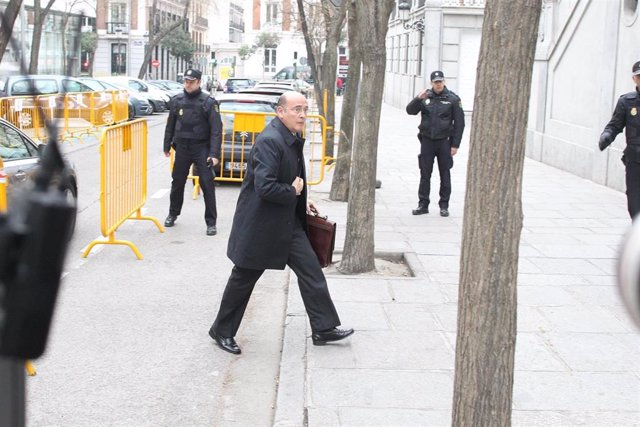 El coronel de la Guardia Civil Diego Pérez de los Cobos, responsable del operativo policial del 1 de octubre, cuando acudió a declarar ante el Supremo por el jucio del 1-O