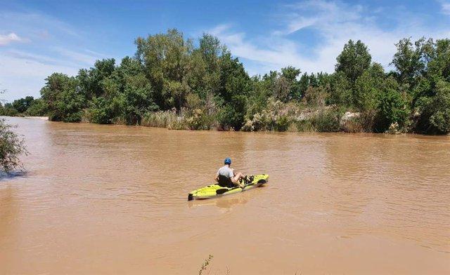 Tomas batimétricas en El Burgo de Ebro