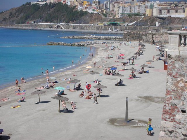 Playa de Ceuta en una imagen de archivo de 2010.