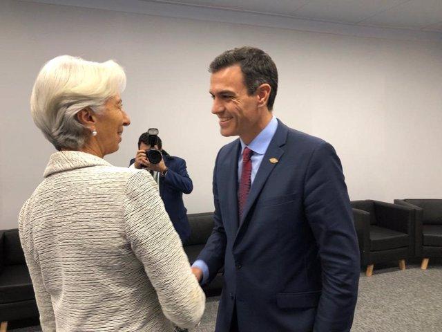 Pedro Sánchez i Christine Lagarde