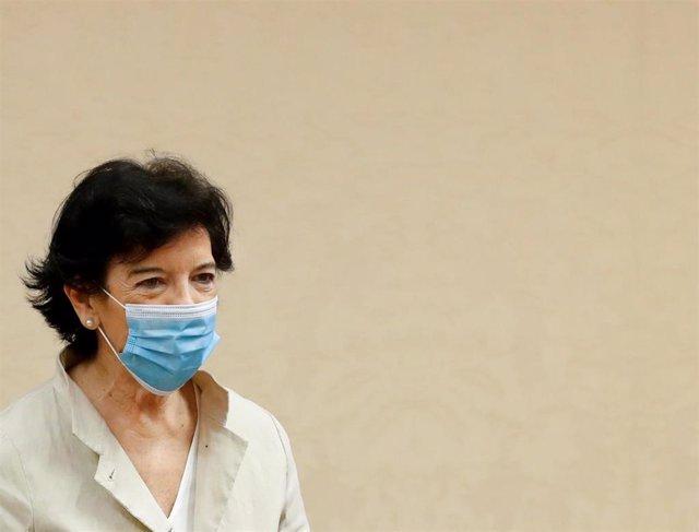 La ministra de Educación, Isabel Celaá, el pasado 21 de mayo en el Congreso de los Diputados.