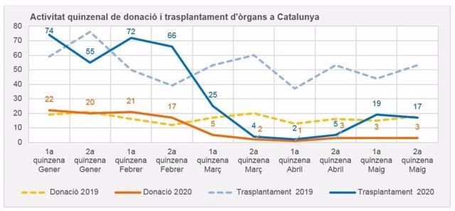 Els trasplantaments a Catalunya han descendit durant la pandèmia