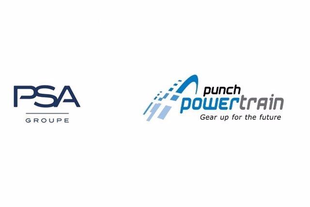 Logos de Grupo PSA y Punch Powertrain.