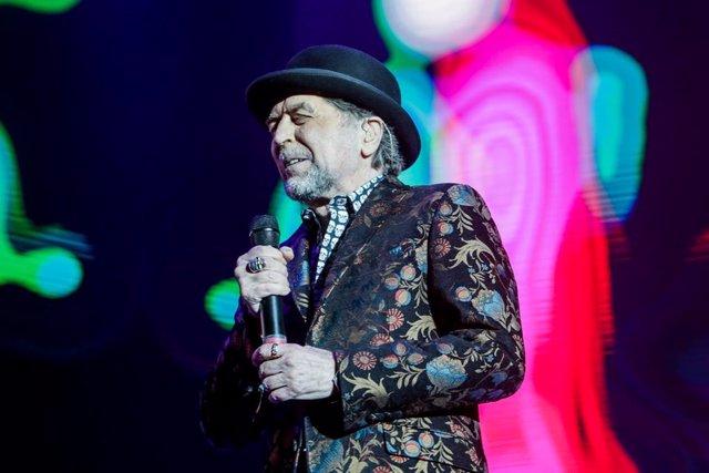 El cantante Joaquín Sabina, durante su actuación en el WiZink Center de Madrid el pasado 20 de enero de 2020.
