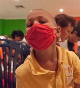 Niño enfermo, cáncer, oncología
