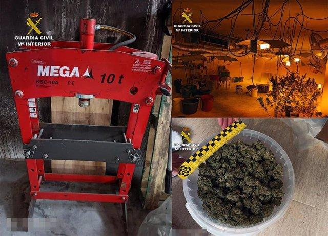 Imágenes capturadas en los puntos de producción de drogas intervenidos