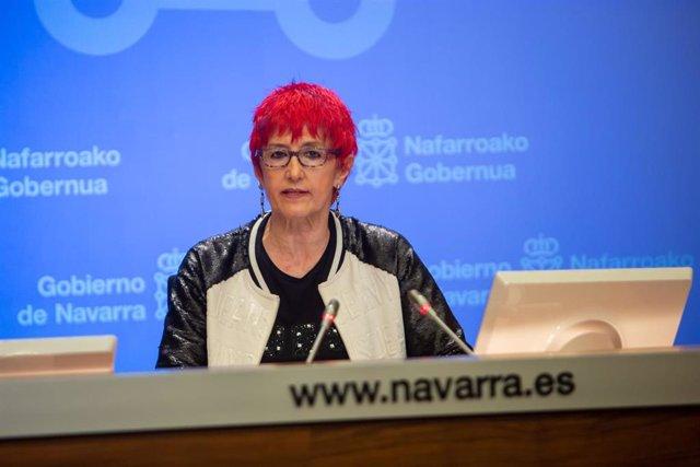 Santos Induráin, consejera de Salud del Gobierno de Navarra