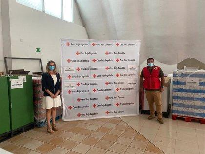 Mercadona dona 9 toneladas de productos de primera necesidad a Cruz Roja Extremadura