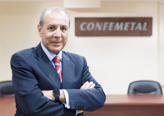 El presidente de Confemetal, José Miguel Guerrero