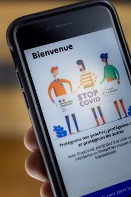 May 25, 2020 - Montreal, Canada: StopCovid, the French government's mobile application for contact tracing to detect COVID-19  (David Himbert/Contacto)