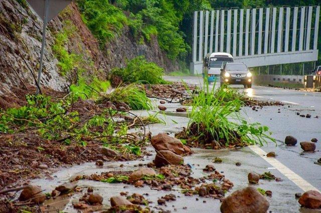 Daños provocados por la tormenta tropical 'Amanda' en El Salvador