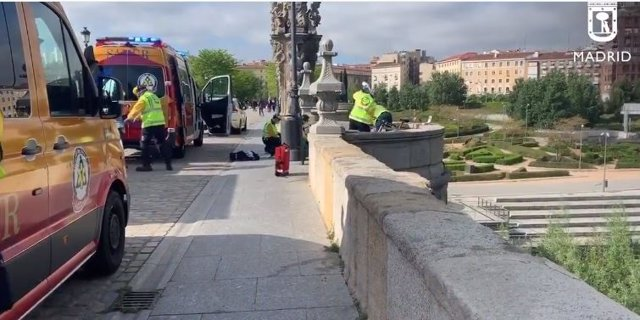 Accidente de bici en Madrid