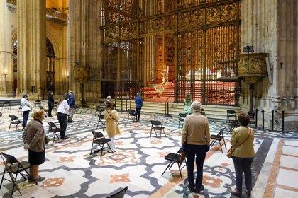 Funeral en la Catedral de Sevilla en memoria de los fallecidos por la pandemia de Covid-19