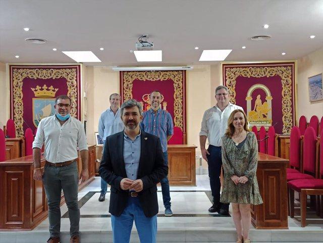 El alcalde con los portavoces municipales