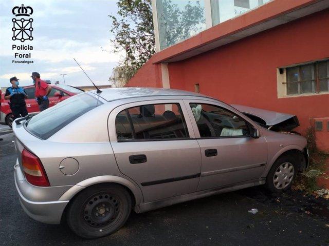 Un fallecido al colisionar contra un muro en Estella