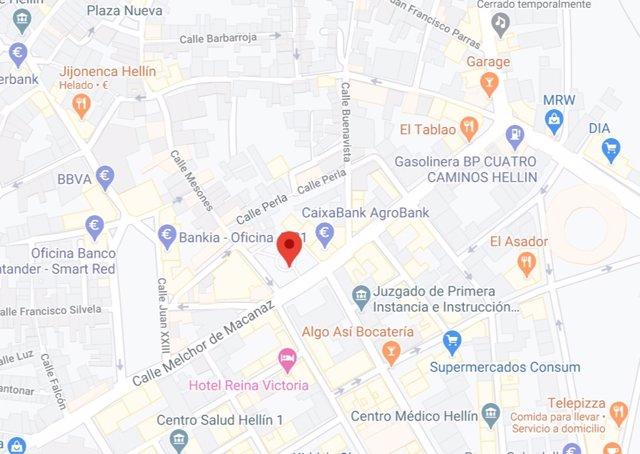 Plaza de Santa Ana de Hellín, donde una reyerta se ha saldado con un herido grave por arma blanca