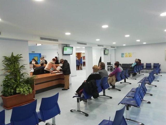 Sala de espera en el Hospital Virgen de las Nieves