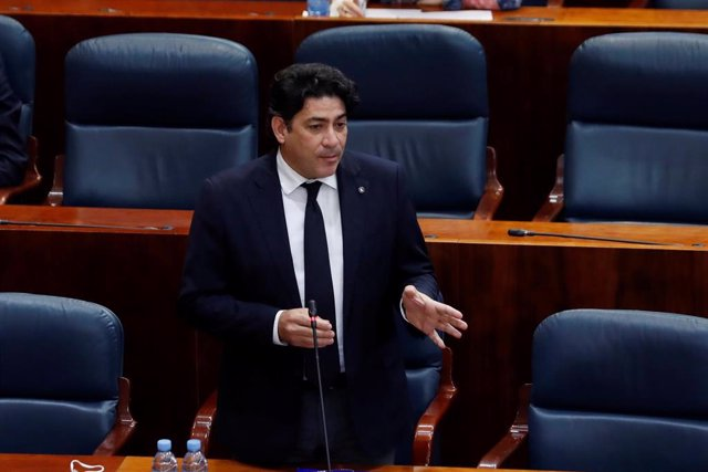 David Pérez en la Asamblea de Madrid