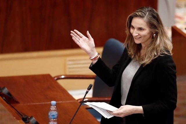 Paloma Martín en la Asamblea de Madrid