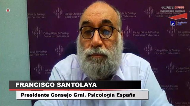 El presidente del Consejo General de la Psicología en España, Francisco Santolaya, participa en el Encuentro Digital de Europa Press: 'La vida en España en tiempo de COVID-19. Apuntes para la desescalada emocional'.