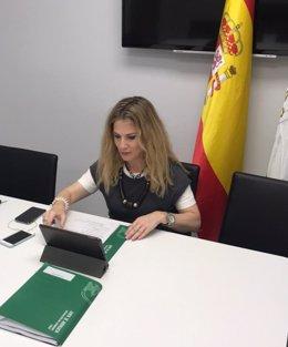 Ana Mestre en el comité de Infoca
