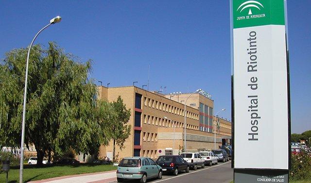 Fachada del Hospital Comarcal de Riotinto
