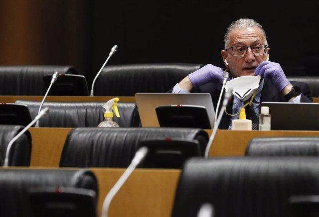 El diputado de Vox, Juan Luis Steegmann Olmedillas, en el Congreso