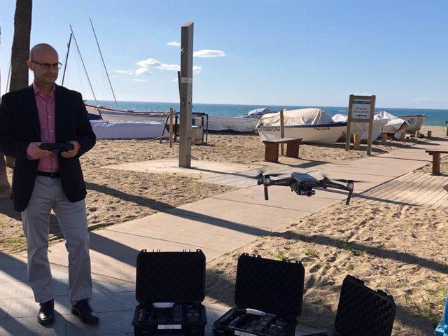 Drones para controlar el aforo en las playas de Mijas