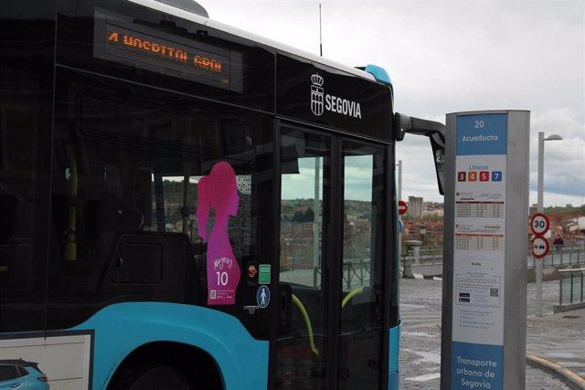 Autobús urbano de Segovia.