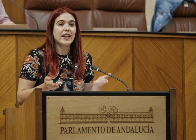 La parlamentaria de Adelante Andalucía Luz Marina Dorado.