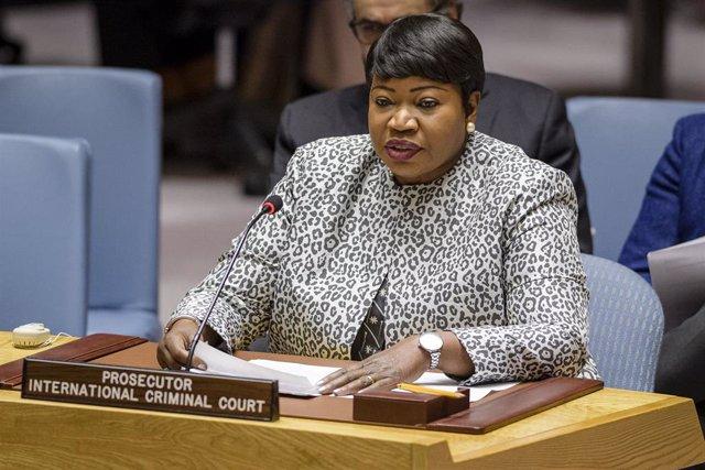 La fiscal jefe del Tribunal Penal Internacional (TPI), Fatou Bensouda