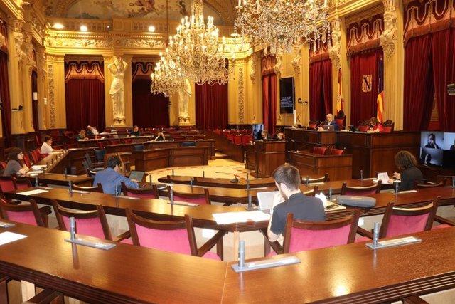 Imagen de la Comisión reunida en el Parlament.