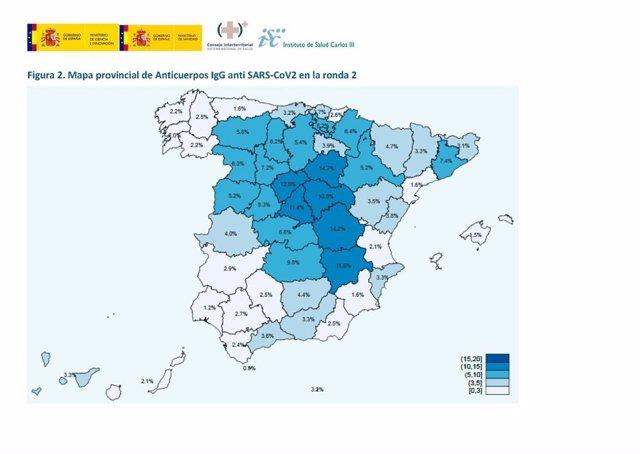 Segunda oleada del estudio de seroprevalencia sobre anticuerpos de COVID-19 en la población española