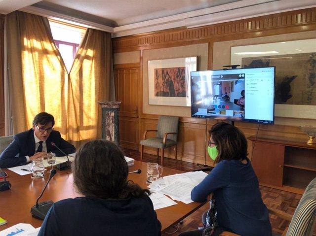 El ministro de Sanidad, Salvador Illa, se reúne con consejeros de CCAA para estudiar la desescalada