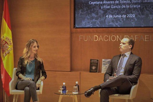 La portavoz del PP en el Congreso, Cayetana Álvarez de Toledo, participa en la presentación del libro 'Libertad o Igualdad: Por qué el desarrollo del capitalismo social es la única solución a los retos del nuevo milenio'.