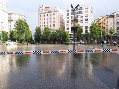 Desalojado un edificio en el centro de Santander por el mal estado de uno de los pilares