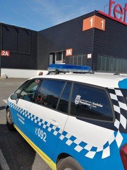 Vehículo de la Policía Municipal.