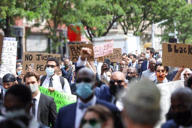 Protestes per la mort de George Floyd a Nova York, els Estats Units.