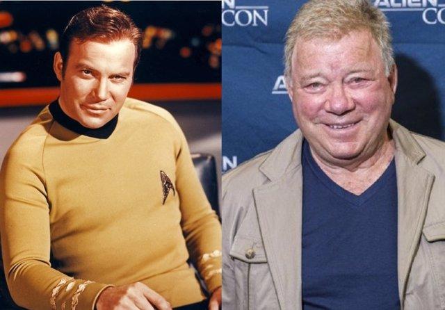 William Shatner es el Capitán Kirk en Star Trek