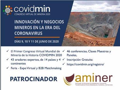 Asociación de Empresas Mineras patrocina el I congreso virtual de la minería mundial 'Covidmin2020' ante coronavirus